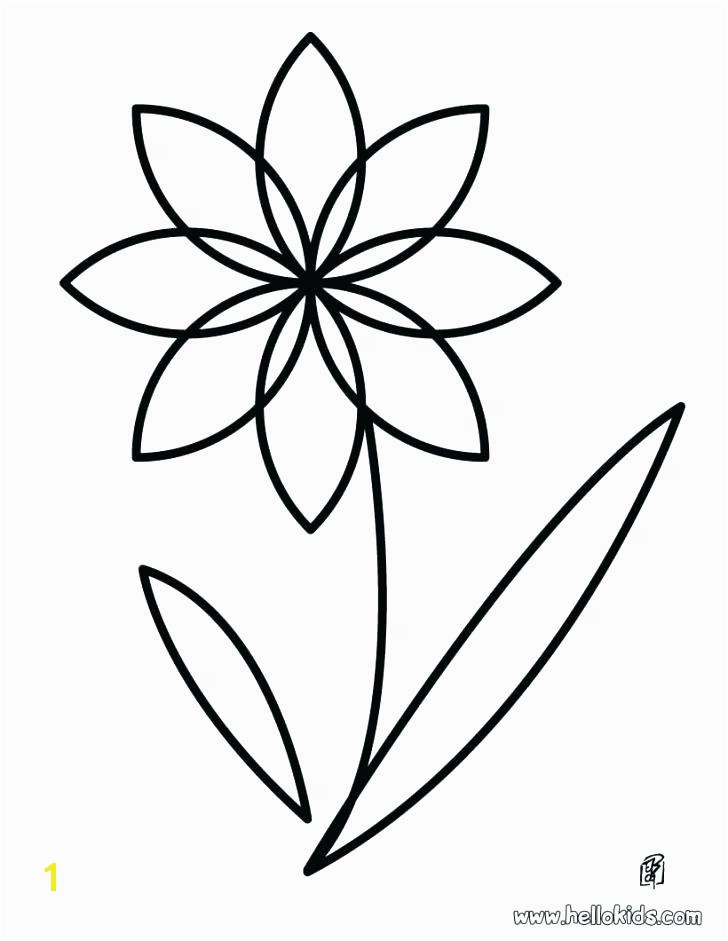 Simple Flower Coloring Pages Colouring Pages Simple Flowers Flowers Healthy
