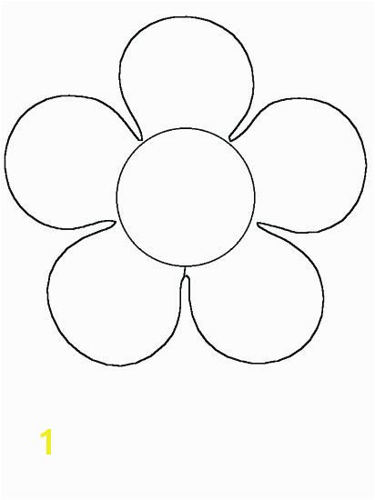 Simple Flower Coloring Pages Flower Pot Coloring Page Coloring Page A Flower Easy Simple