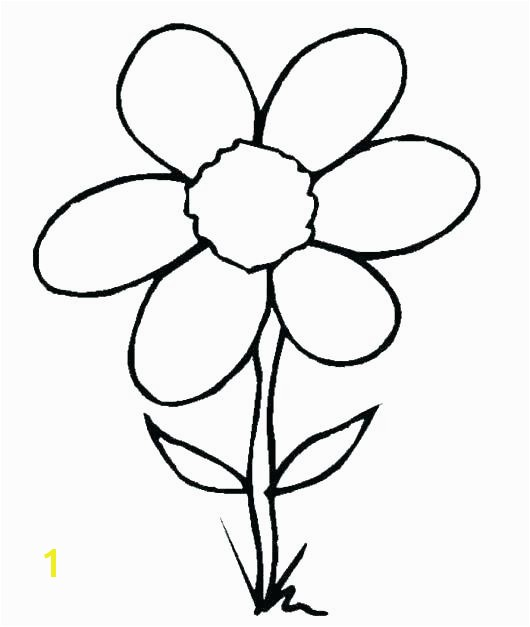 Simple Flower Coloring Pages Simple Coloring Pages Flowers Full Size Coloring Pages Simple Flower