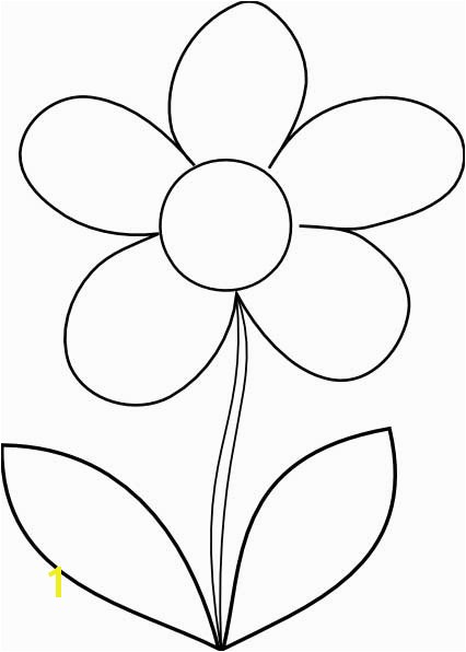 This coloring page for kids features the outline of a simple flower ready to be brought