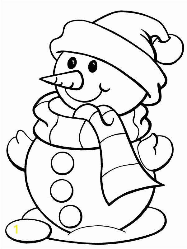 best snowman coloring pages wearing scarf and hat 7263