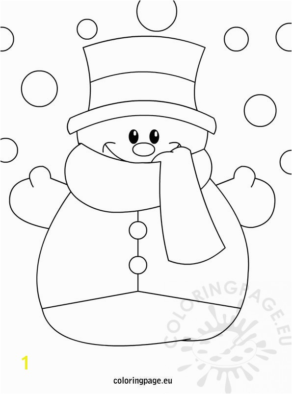 winter coloring page snowman