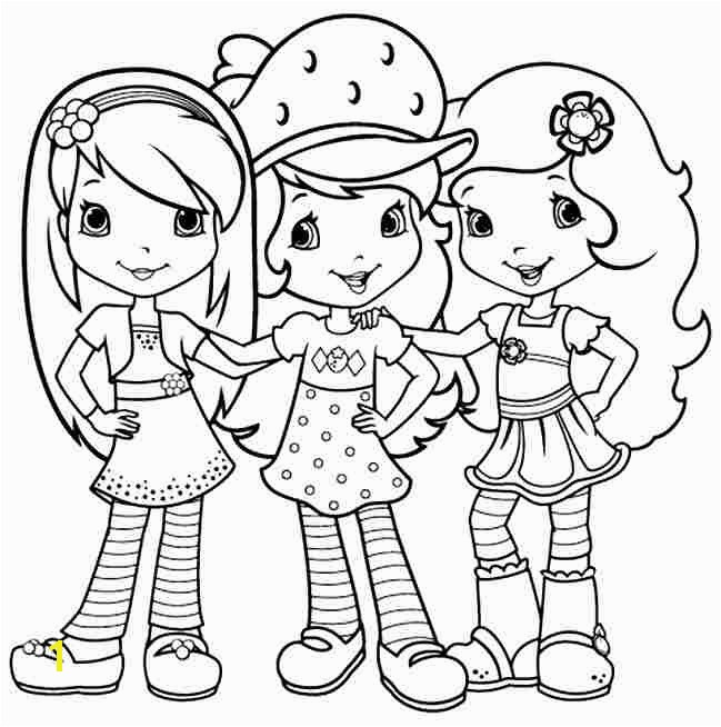 strawberry shortcake coloring pages free