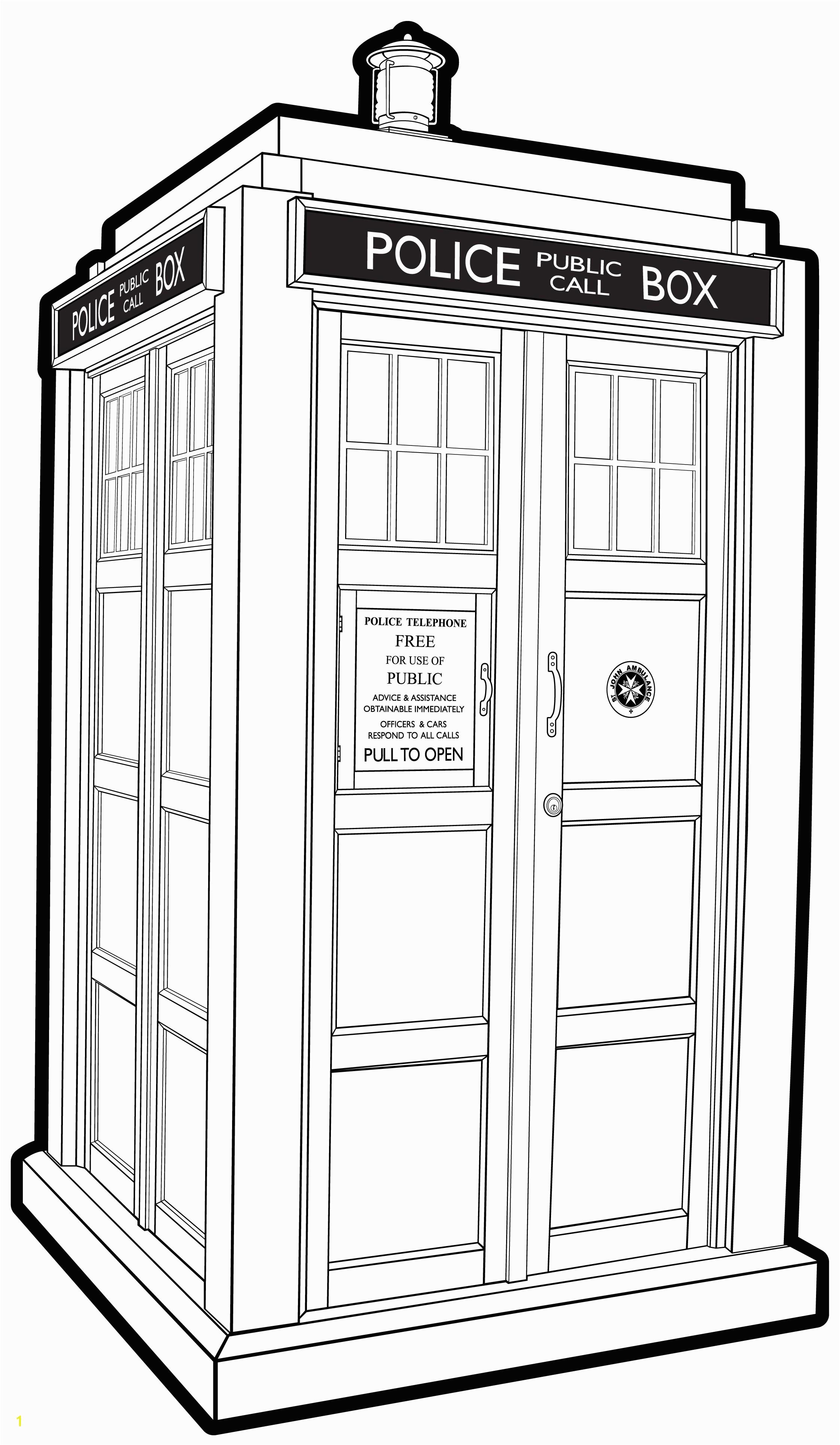 DOCTOR WHO TARDIS EX B W