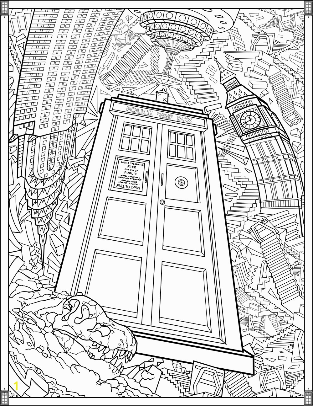 Tardis Printable Coloring Pages Doctor who Wibbly Wobbly Timey Wimey Coloring Pages [printables] Fun Blog