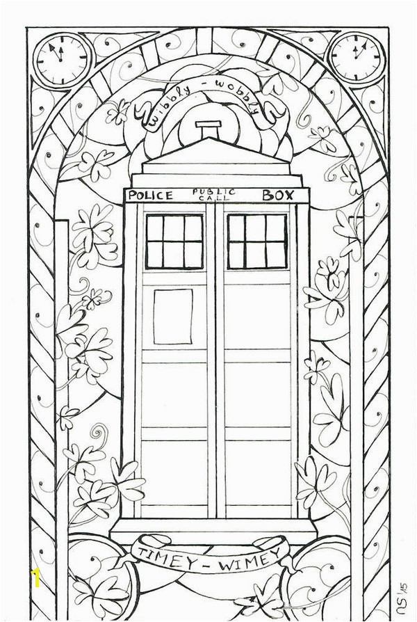 Stained Glass Tardis Outlines