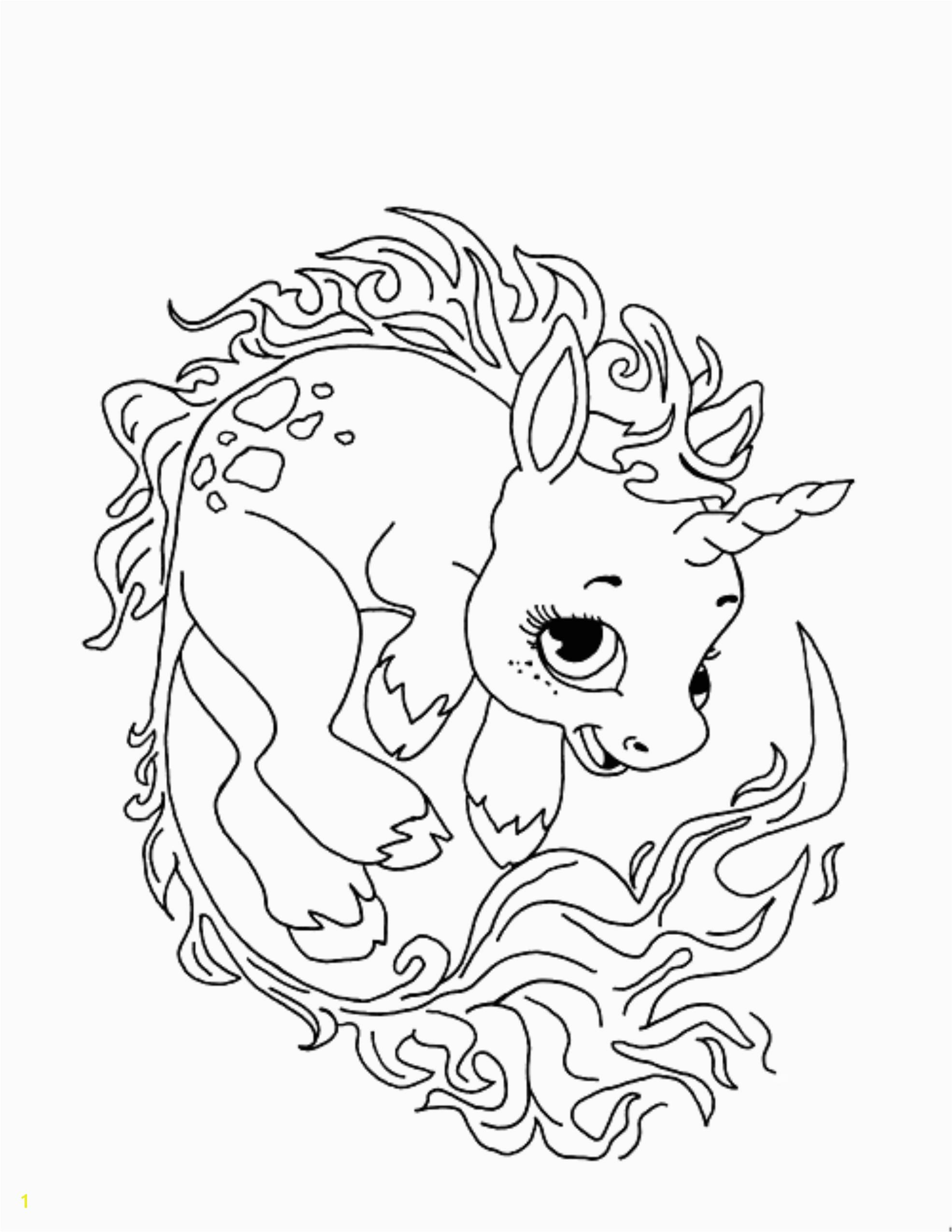 unicorn coloring pages children