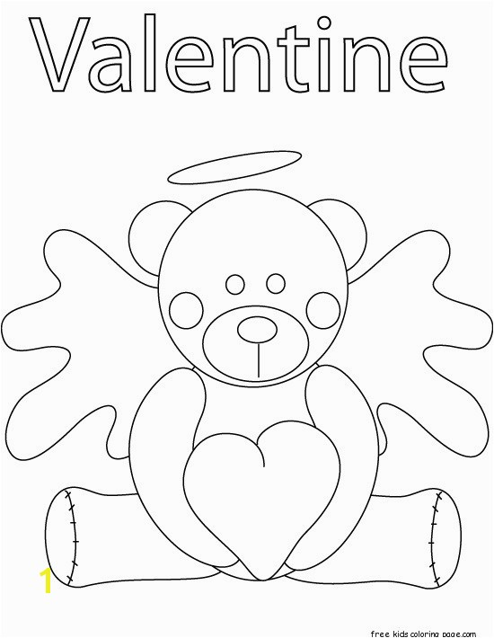 pooh bear valentines day coloring pages
