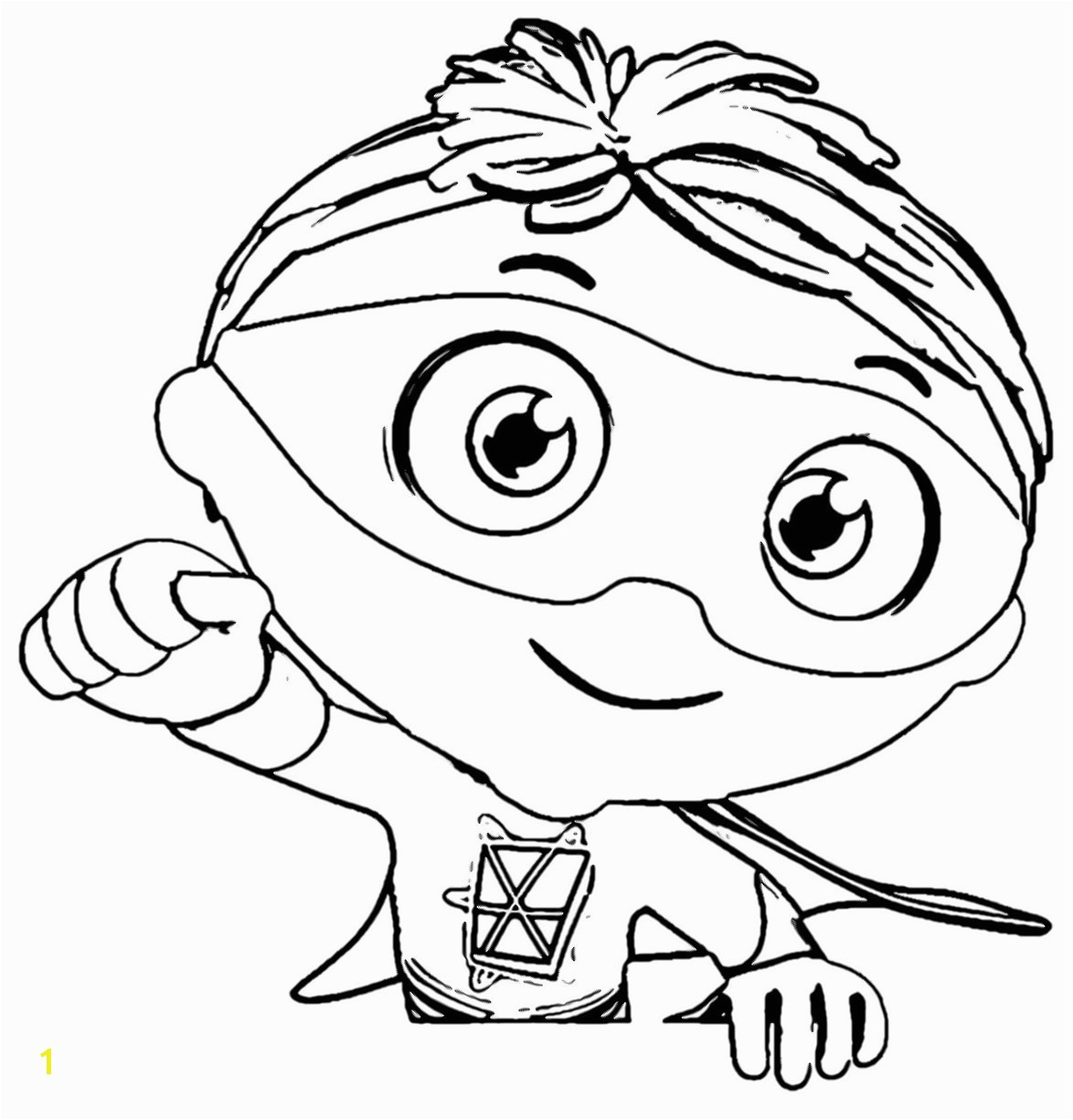 Super Why Coloring Pages Best For Kids Within P Free Page