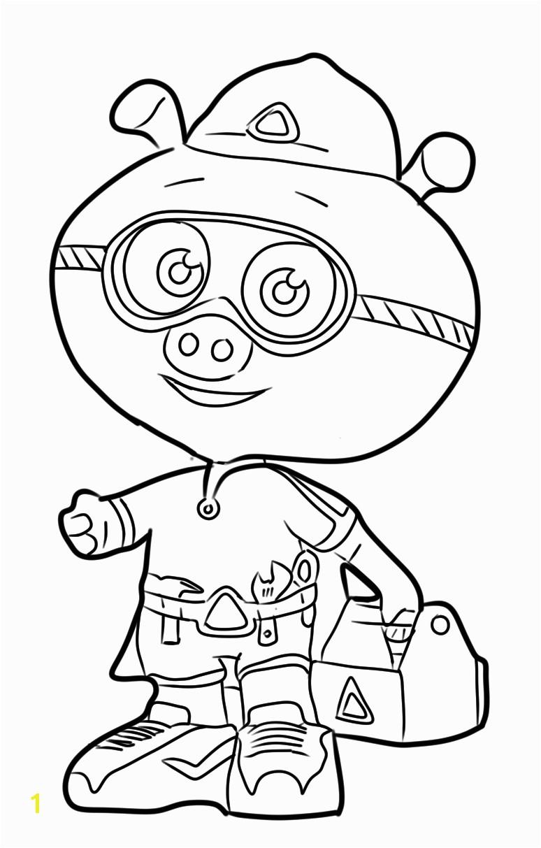 coloring super why alpha pig
