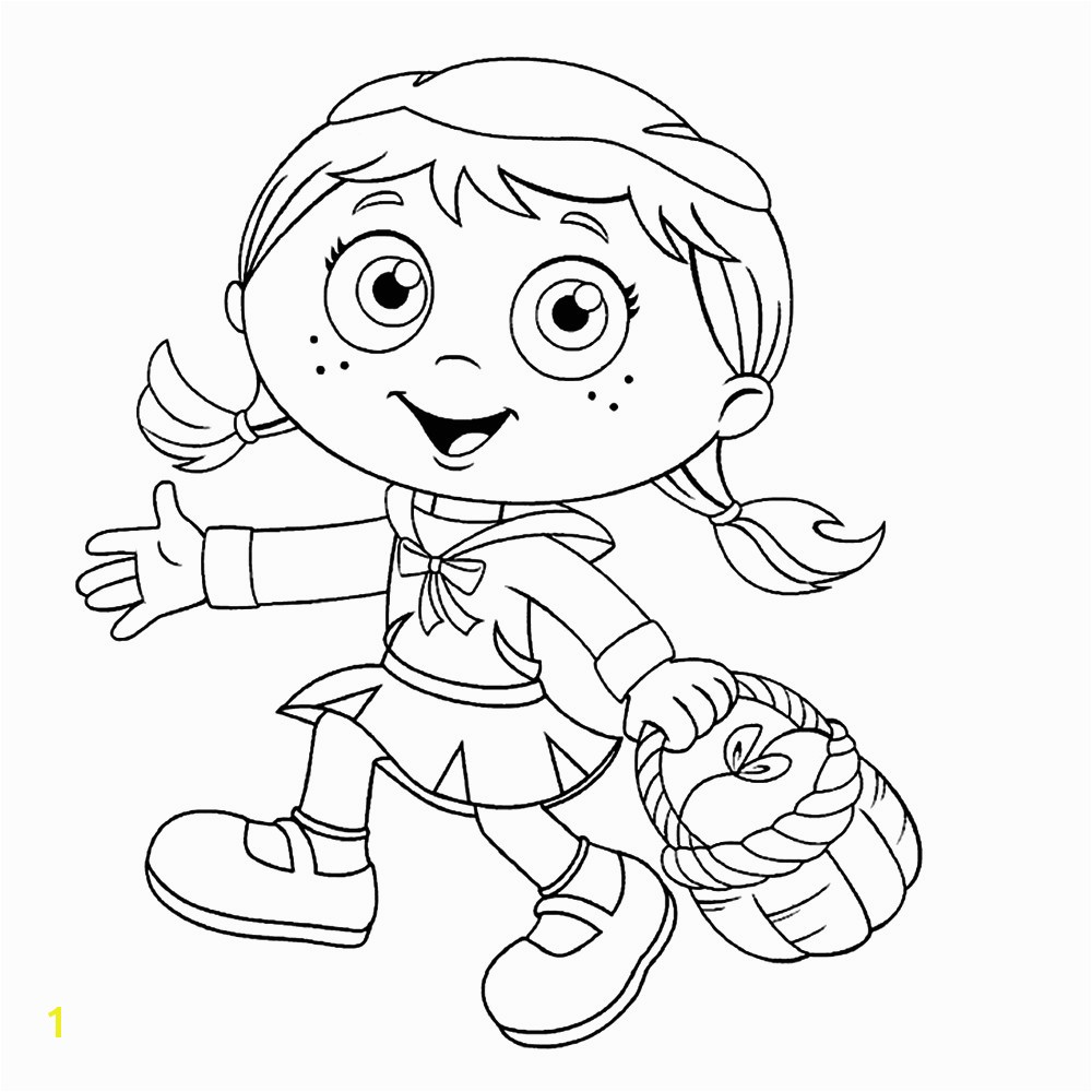 Super Why Coloring Pages With Best For Kids