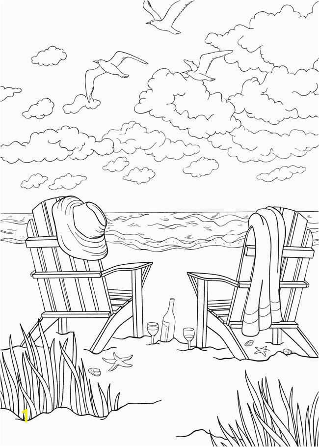 bliss SEASHORE Coloring Book Your Passport to Calm By Jessica Mazurkiewicz Coloring Page –1 Wel e to Dover Publications
