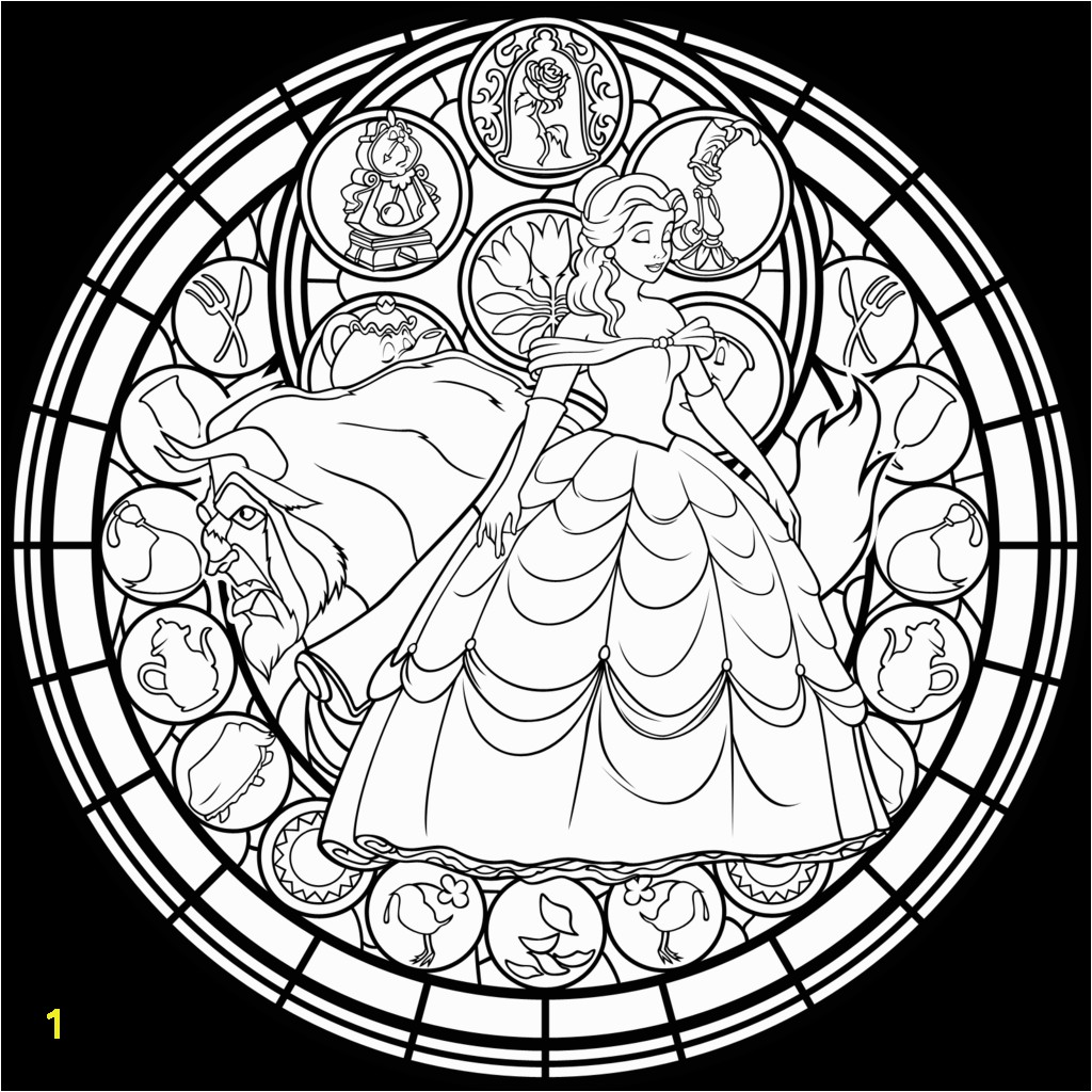 BEAUTY AND THE BEAST Adult Coloring Pages