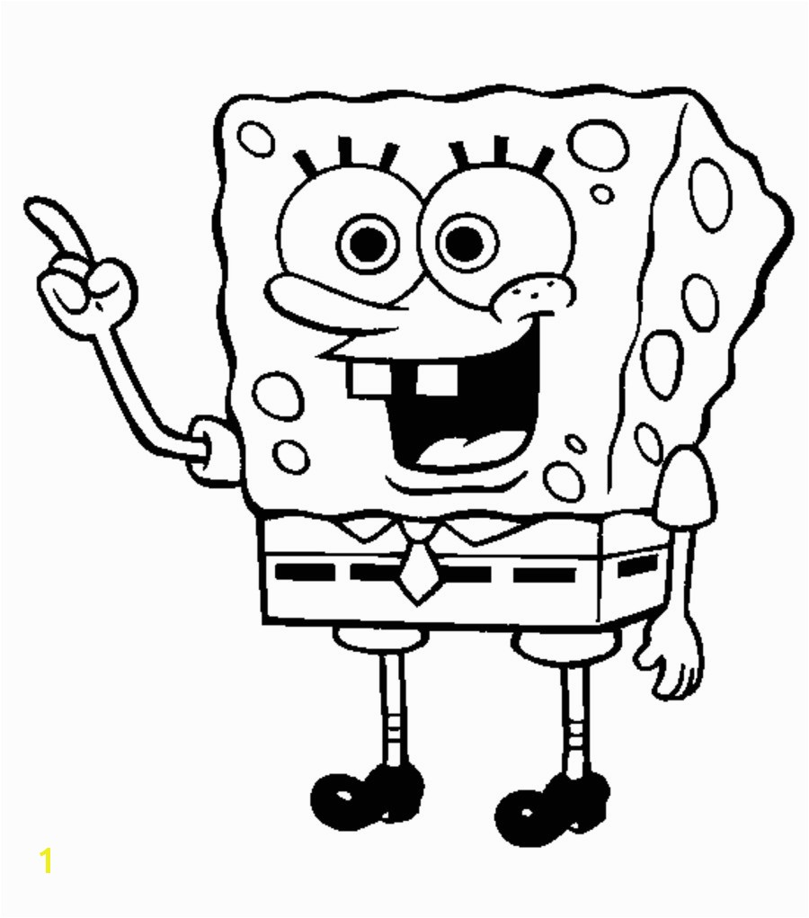 Innovative Spongebob Coloring Pages Free Print Unknown Spongebob Coloring Page