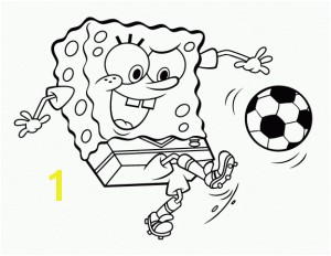 SpongeBob coloring page to for free