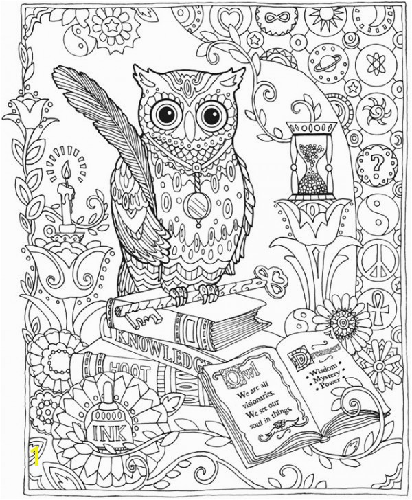 plex Owl Coloring Pages for Adults Printable