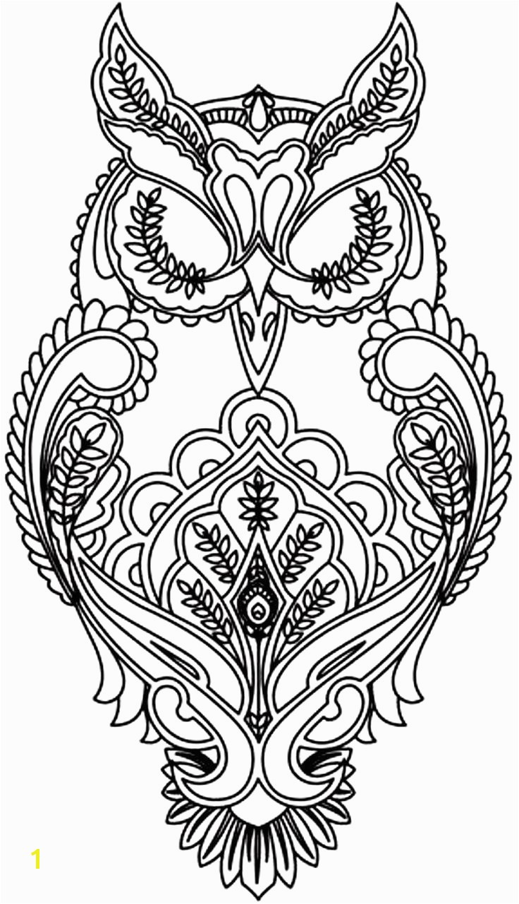 Unbelievable Owl Coloring Pages For Adults Printable Image Picture Abstract Style And Trend FILES 1374 Owls