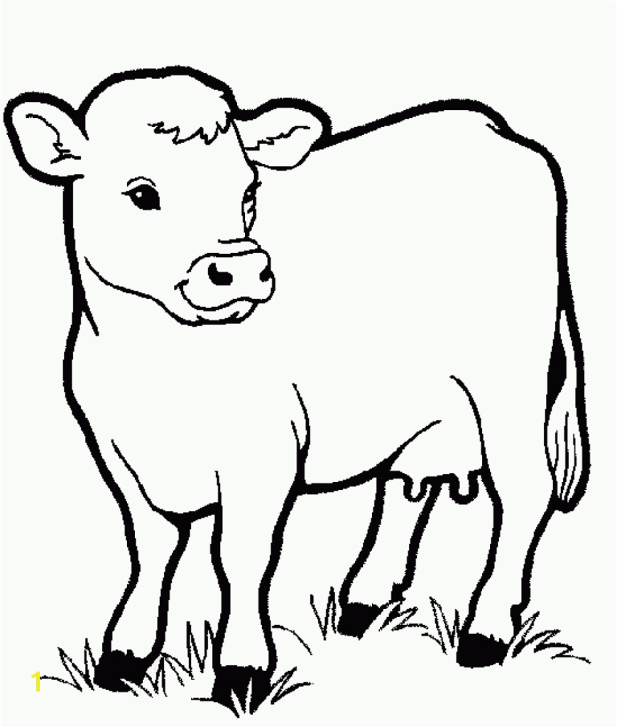 Printable Coloring Pages Of Animals On the Farm Cow Animals Coloring Pages for Kids Printable Coloring Animal