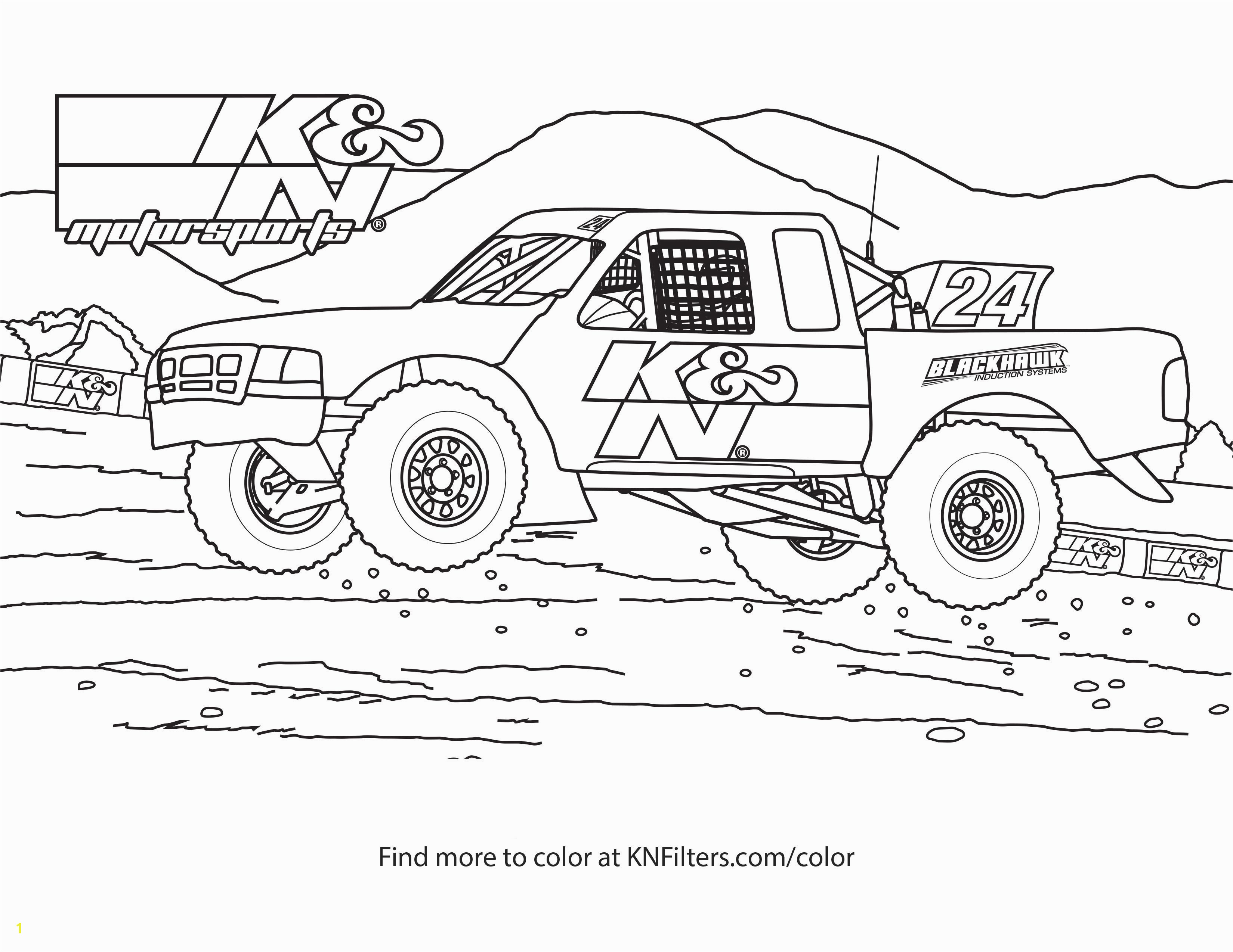 f Road Truck K&N Printable Coloring Page