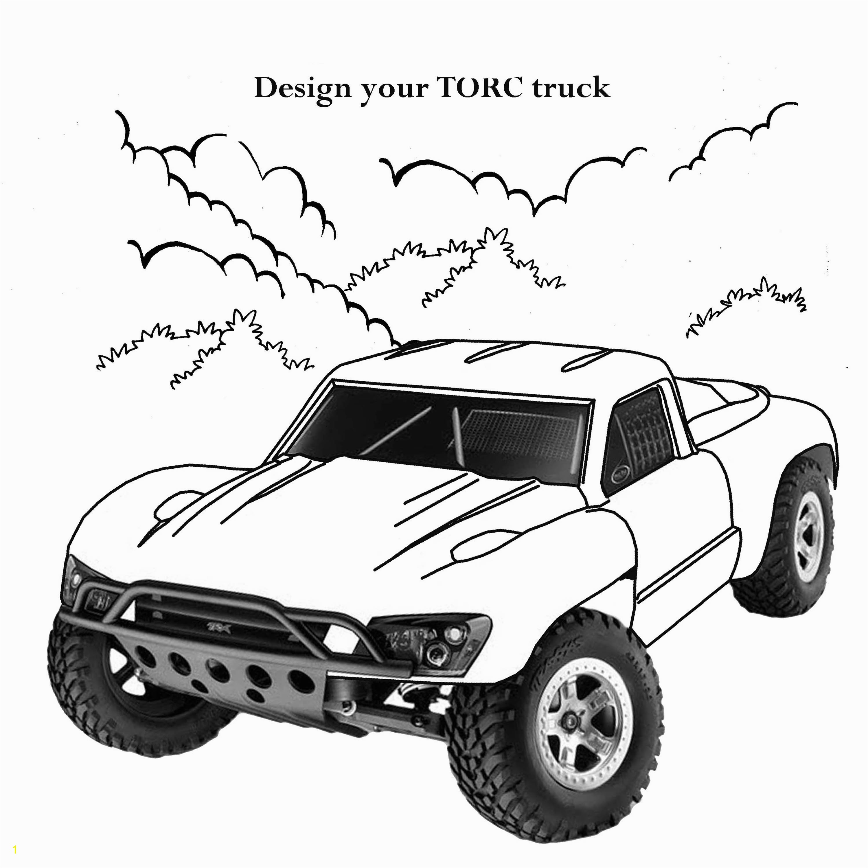 race cars and trucks coloring pages