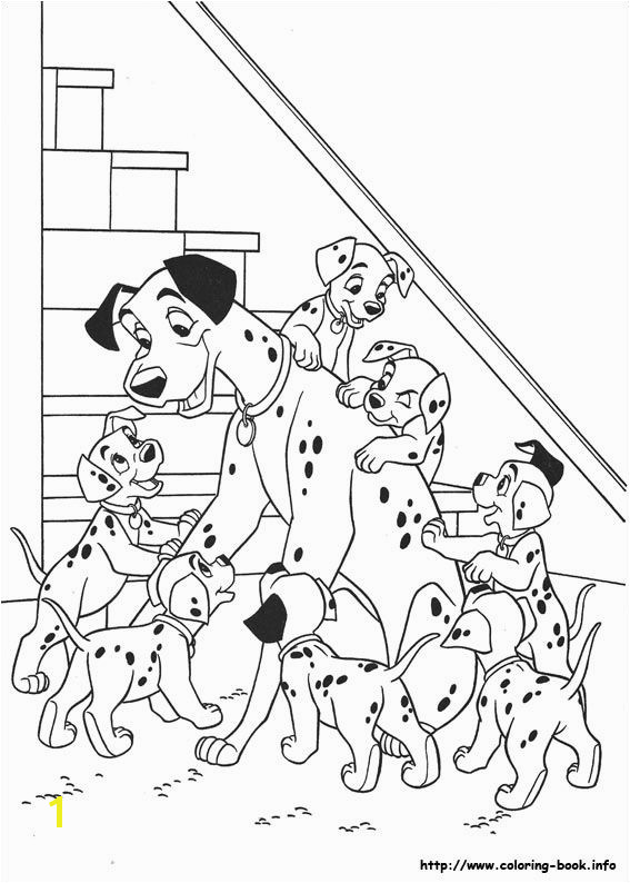 100 Dalmatians Coloring Pages 101 Dalmatians Coloring Picture Disney Coloring Pages