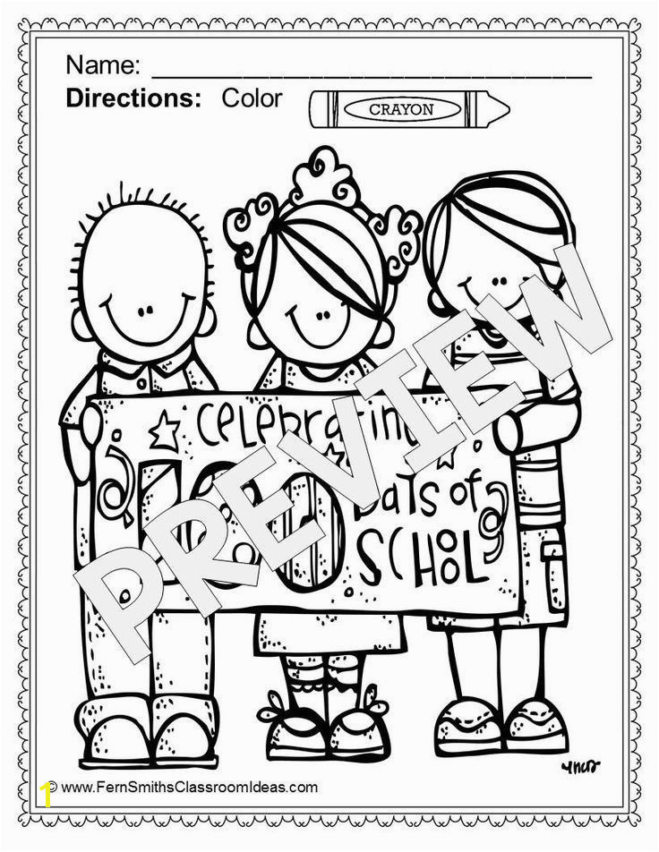 100th Day Of School Coloring Pages 18 Luxury 100th Day School Coloring Pages