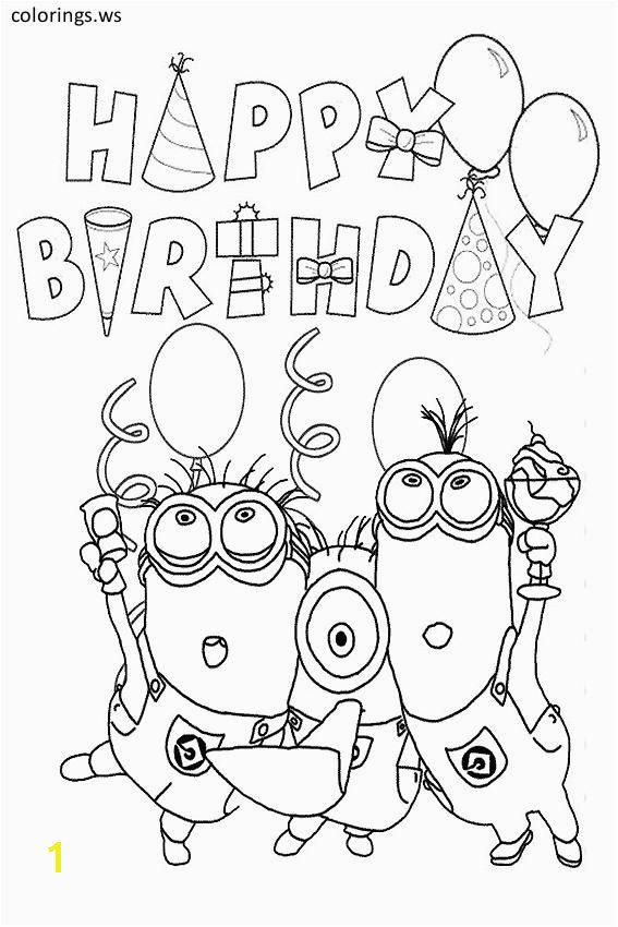 Happy Birthday Minion Template For Children Happy Birthday Coloring Pages Free Printable Happy Birthday