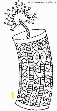 New Year & 4th of July color page holiday coloring pages color plate