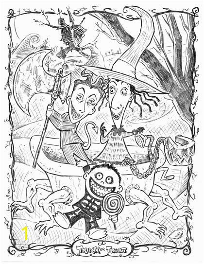 Nightmare Before Christmas coloring page 400x500px printable to a full size if stretched Direct link to image source was a sketchy coloring page site