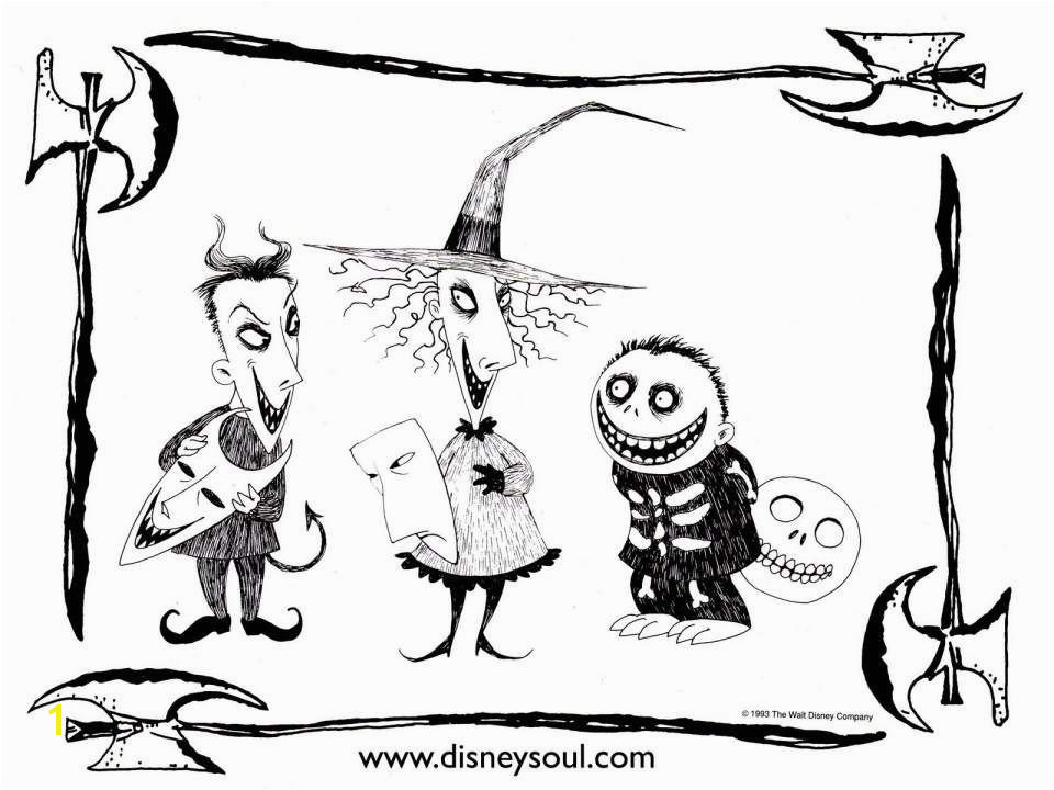 The Nightmare before Christmas Coloring Pages Fresh Nightmare before Christmas Coloring Pages Night before Christmas Related Post