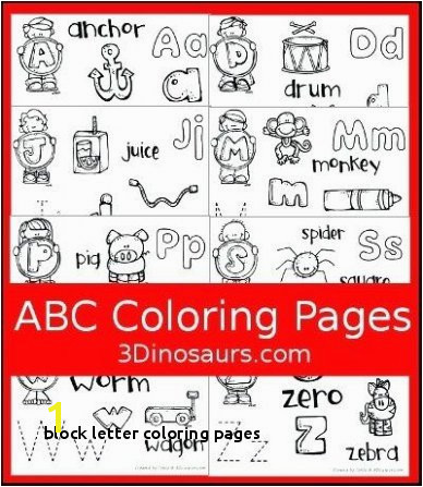 Abc Blocks Coloring Pages 25 Block Letter Coloring Pages