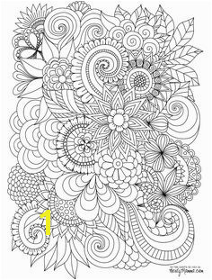 Flowers Abstract Coloring pages colouring adult detailed advanced printable Kleuren voor volwassenen coloriage pour adulte anti