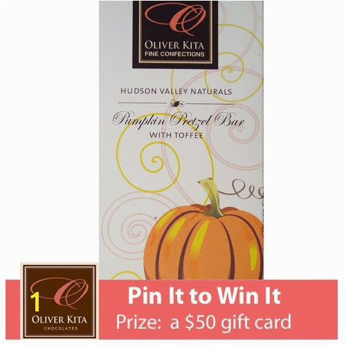 Oliver Kita s Pin it to Win it Pumpkin Pretzel HudsonValley Naturals Bar with Toffee