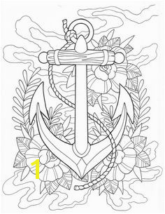 Anchor tattoo coloring Page Digital Download Coloring Book Pages Coloring Sheets Printable Coloring Pages