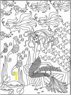 Mermaid coloring page Coloring Pages for Adults