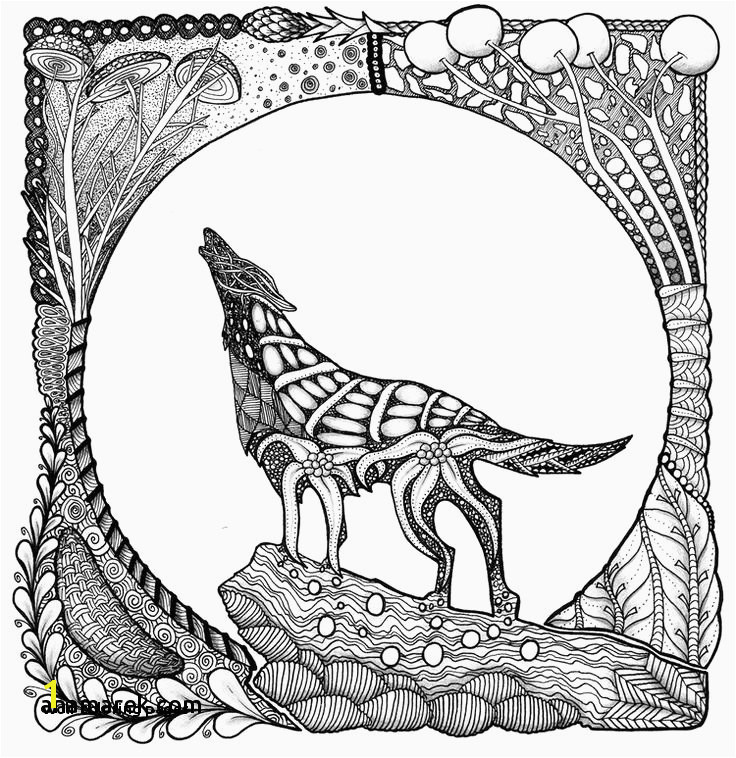 Wolf Coloring Pages Adult Coloring Pages Wolf