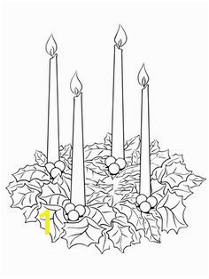 Advent Wreath Coloring page Christmas Advent Wreath Christmas Candles Christmas Colors Christmas Art
