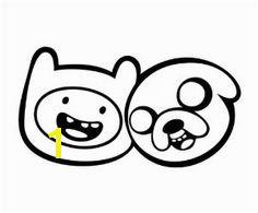 Adventure Time Finn and Jake Vinyl Die Cut Decal Sticker Black
