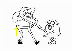 Finn and Jake cartoons coloring pages for kids printable free Handshake Adventure Time Base