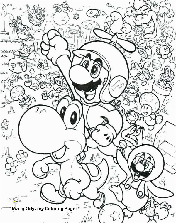 Coloring Pages Mario Odyssey Best Coloring Page 2018