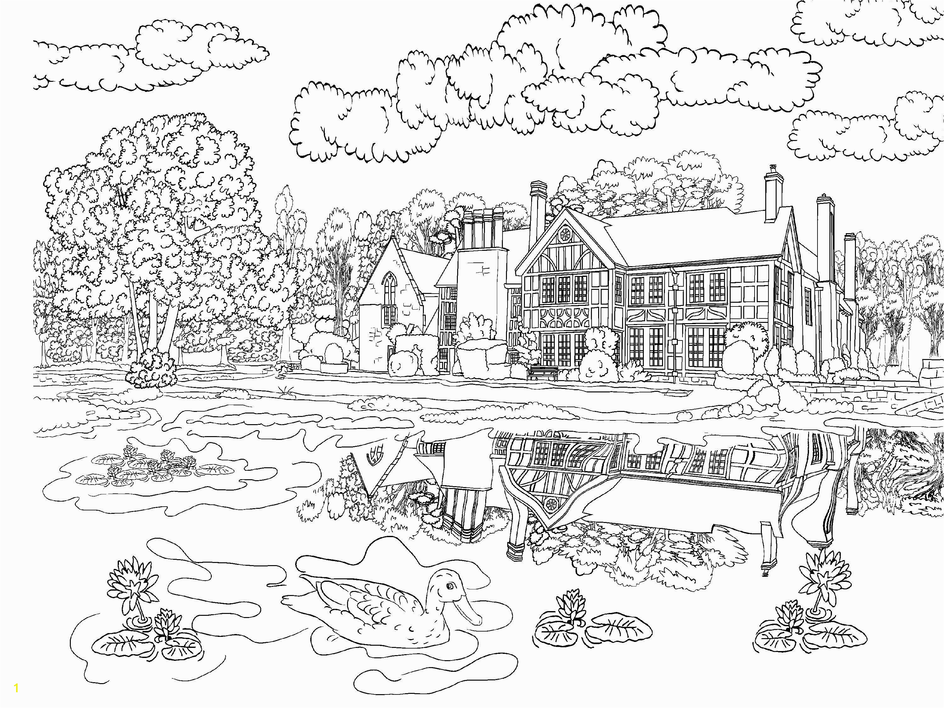 Aerial Coloring Pages Beautiful Scenery Colouring Pages