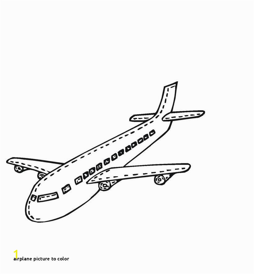 Airplane Picture to Color Free Printable Airplane Coloring Pages for Kids