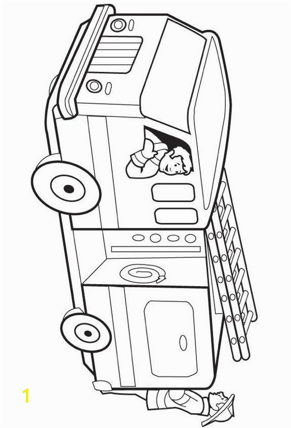 Print coloring page and book Fire Truck Coloring Page for kids of all ages