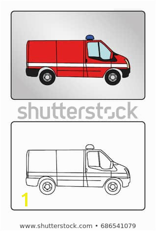 Coloring page book Fire truck