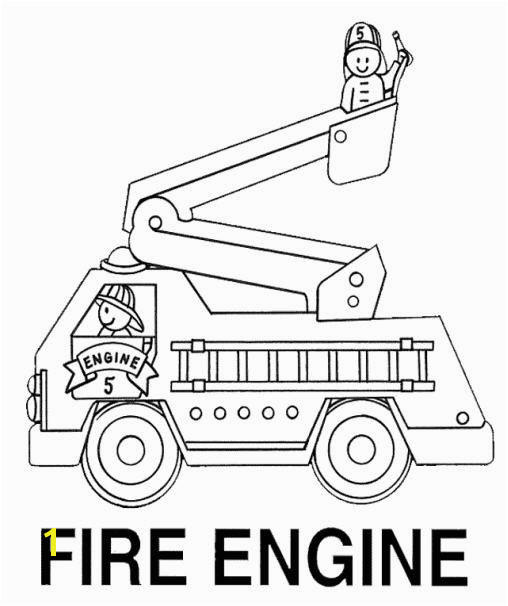 Preschool fire truck colouring pages page 2