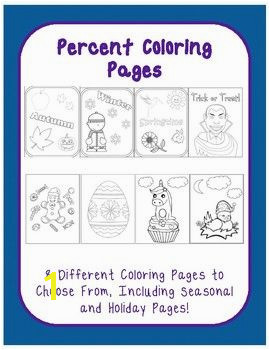 Percent Coloring Page Halloween Holidays Seasons 8 Pack