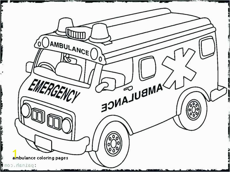 Ambulance Coloring Pages Coloring Ambulance Coloring Pages Page Fire Truck Sheet Preschool