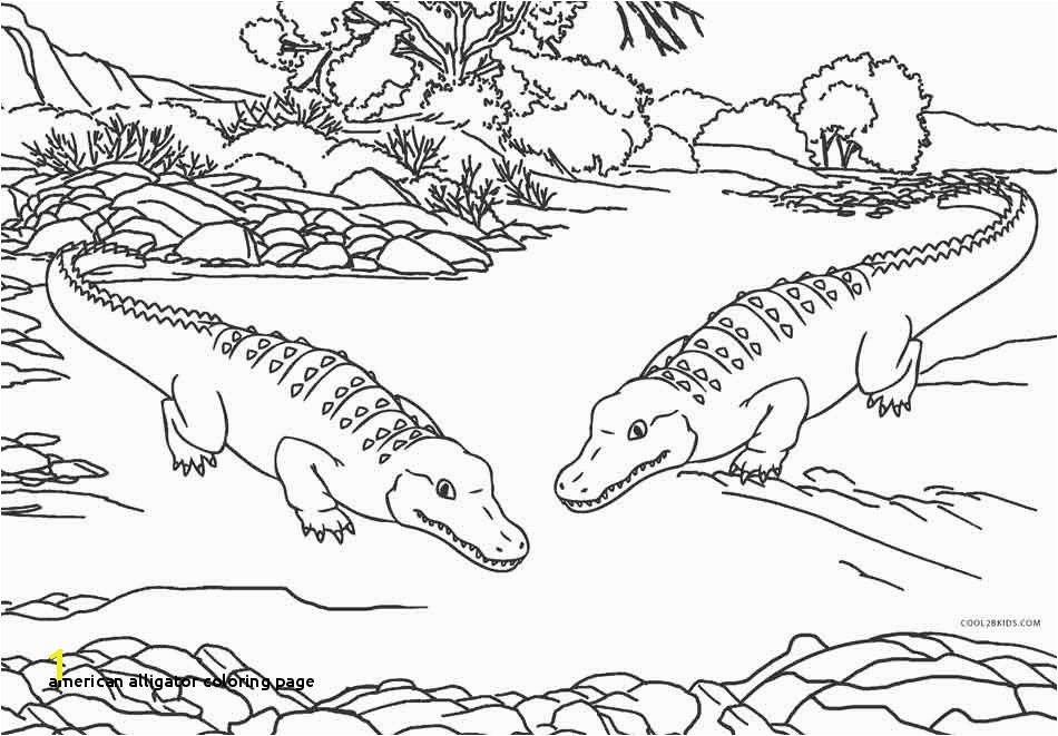 American Alligator Coloring Page Elegant Alligator Coloring Pages