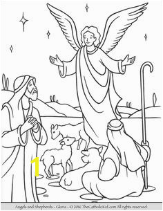 Angels Shepherds Gloria Coloring Page Angel Coloring Pages Coloring Pages For Kids Coloring Sheets