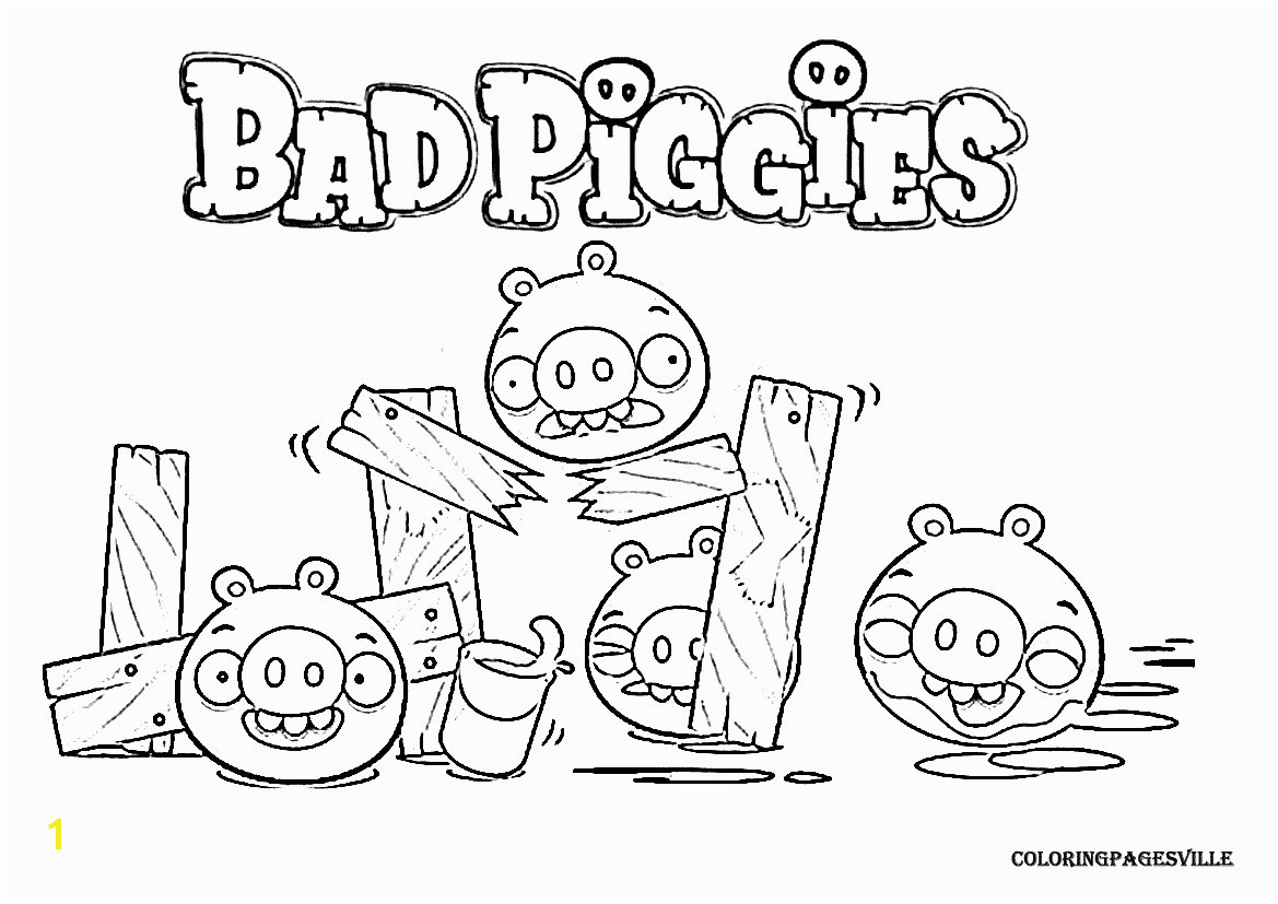 Bad Piggies Coloring Page Angry Birds Papercraft Luxus Angry Birds Go Ausmalbilder